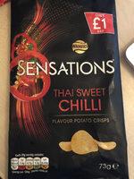 Thai sweet chilli flavour potato crisps - Product