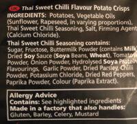 Thai sweet chilli flavour potato crisps - Ingrediënten