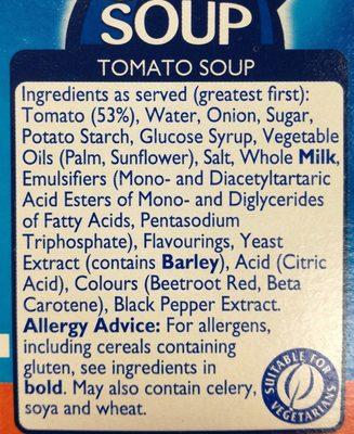 Cupasoup tomato - Ingrediënten