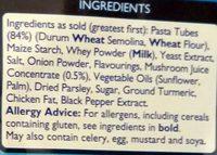 Pasta n sauce chicken'mushroom - Ingredients