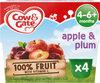 Gate Plum & Apple Fruit Puree Pots 4 x - Product