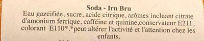 Irn Bru - Ingredients