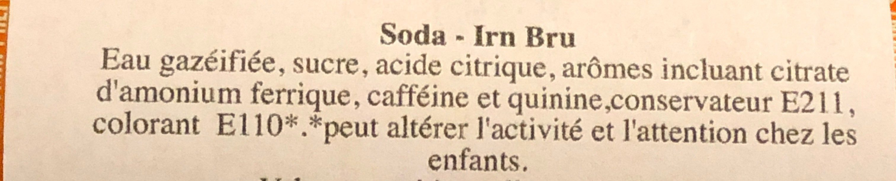 Irn Bru - Ingredients - fr