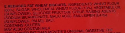 Digestive Light Biscuits - Ingredients