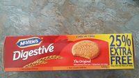 MC Vities Digestive 500G 25% Extra Free - Ingrediënten