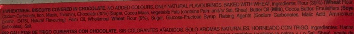 Digestive galletas con chocolate negro - Ingredienti - en