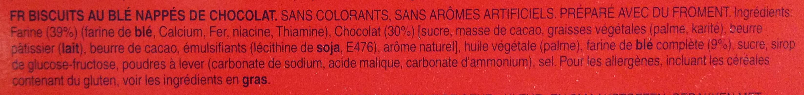 Digestive - Dark Chocolate - Ingredients - fr