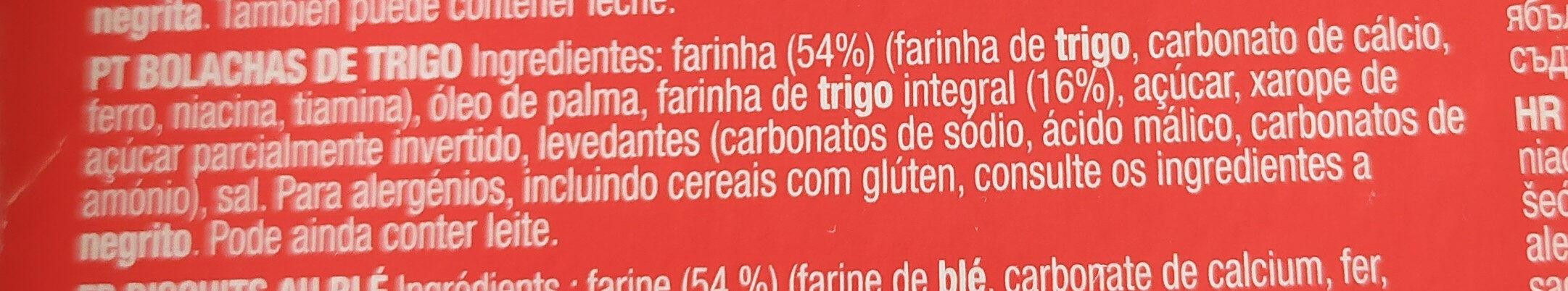 Digestive - Ingrediënten - es
