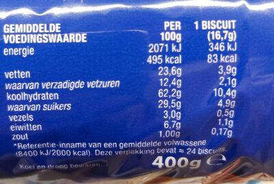 McVitie's Digestive Melk Chocolade - Voedingswaarden - nl