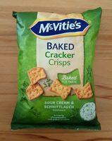 Baked cracker crisps - Produkt