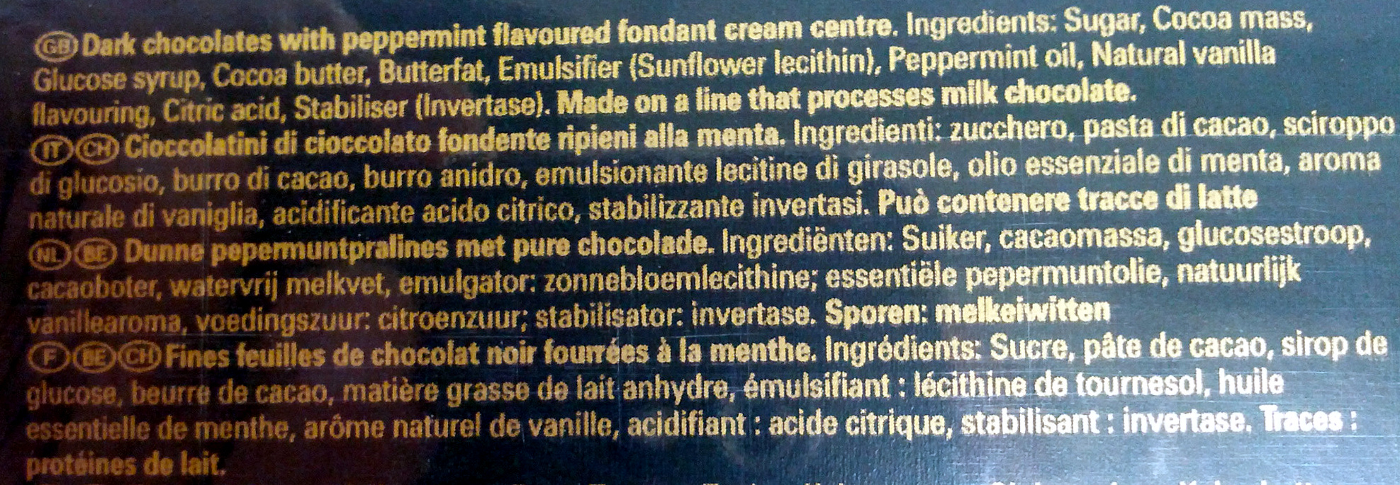 After Eight - Ingredients