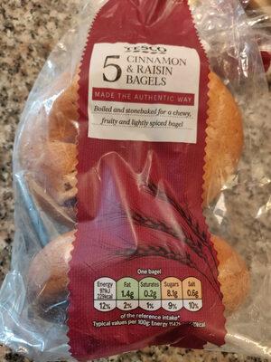 Tesco Cinnamon And Rasin Bagels 5 Pack - Product - en