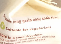TESCO Organic Easy cook long grain rice - Ingredients