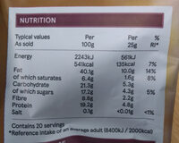 Tesco Unsalted Mixed Nuts And Raisins 500G - Informations nutritionnelles - fr