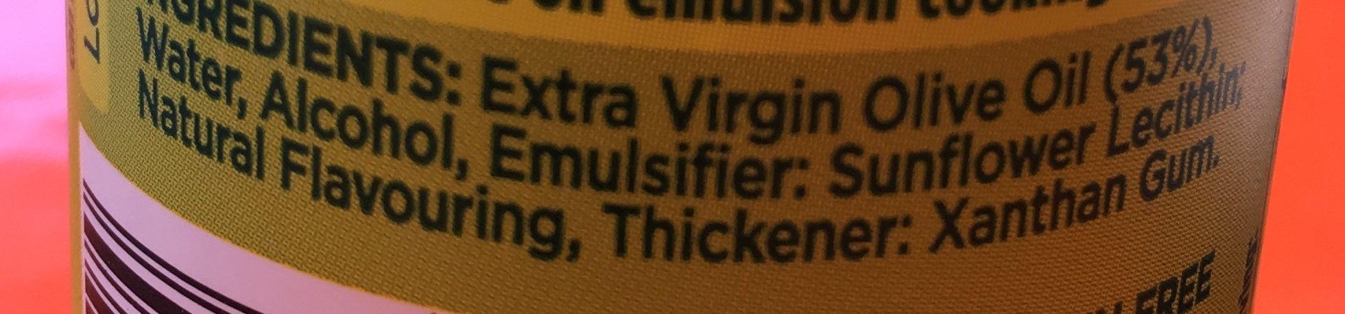 Extra Virgin Olive Oil Spray - Ingrediënten