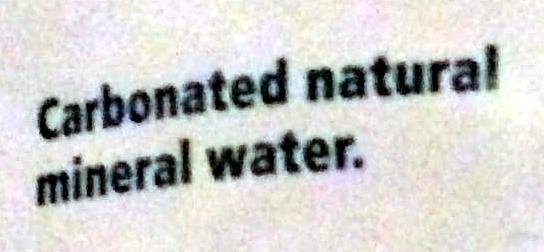 Mineral water - Ingredients - en