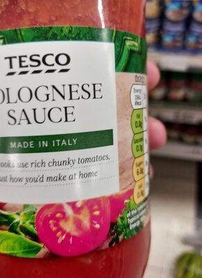 Tesco Bolognese Pasta Sauce Jar 500G - Valori nutrizionali - en