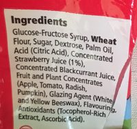 Strawberry Flavour Laces - Ingredients - fr