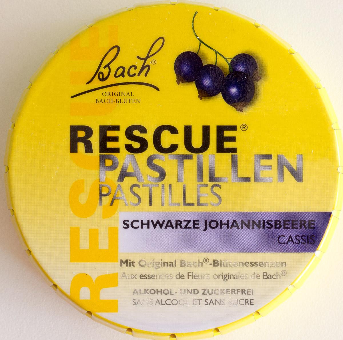 pastille rescue aux fleurs de bach 50 g