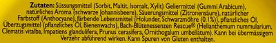 Rescue Pastillen Schwarze Johannisbeere Cassis - Inhaltsstoffe