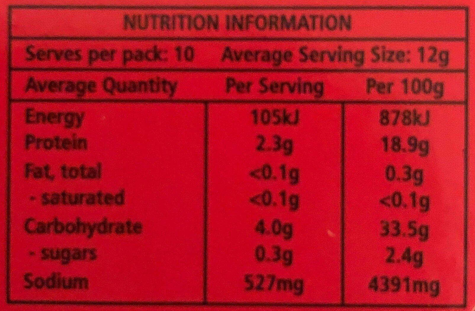 Bovril 125g - Nutrition facts - en