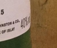 Single Islay Malt Scotch Whisky - Ingredientes