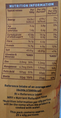 Oatbran - Nutrition facts
