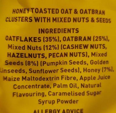 Oatbran granola - Ingredients