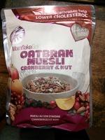 Oatbran muesli Cranberry & nut - Produit - fr