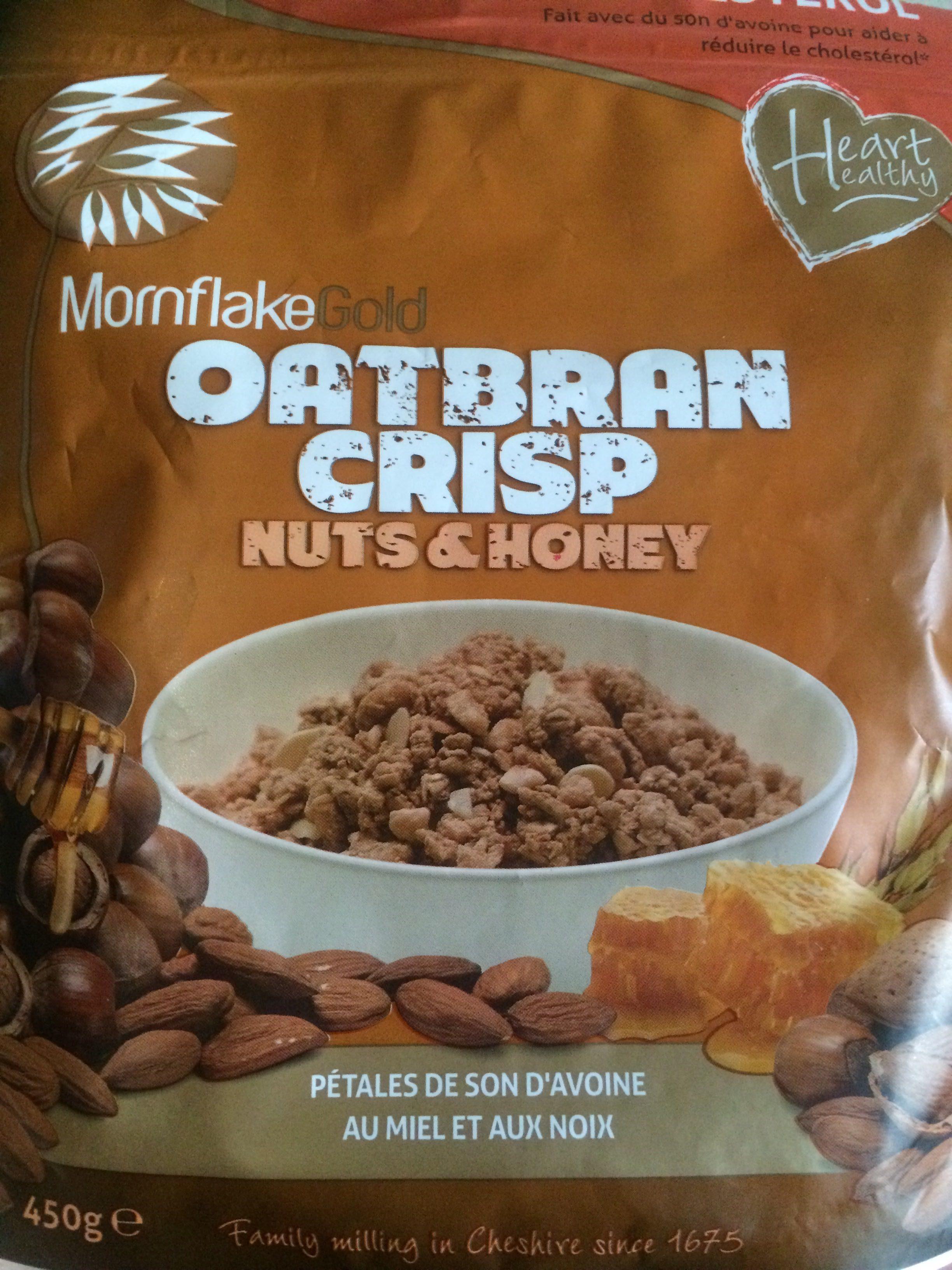 Oatbran Crisp Nuts & Honey - Produit