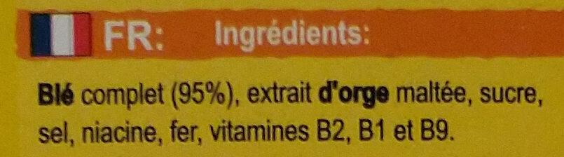 Weetabix Original 95% Blé Complet - Ingredients - fr