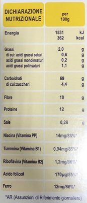 Weetabix - Valori nutrizionali - fr