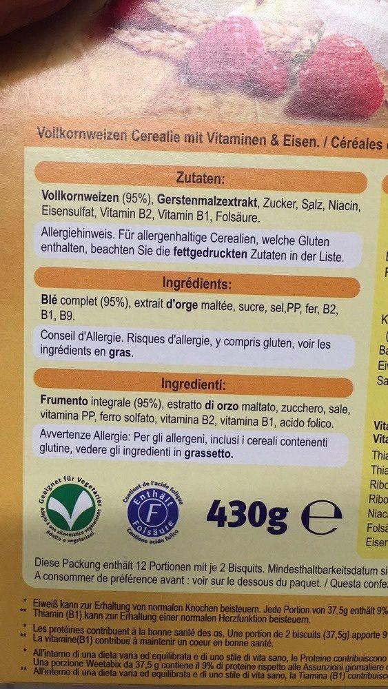 Weetabix - Ingrédients - fr