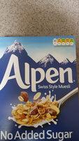 Alpen Müsli No Added Sugar Swiss Style Muesli - Produit - fr