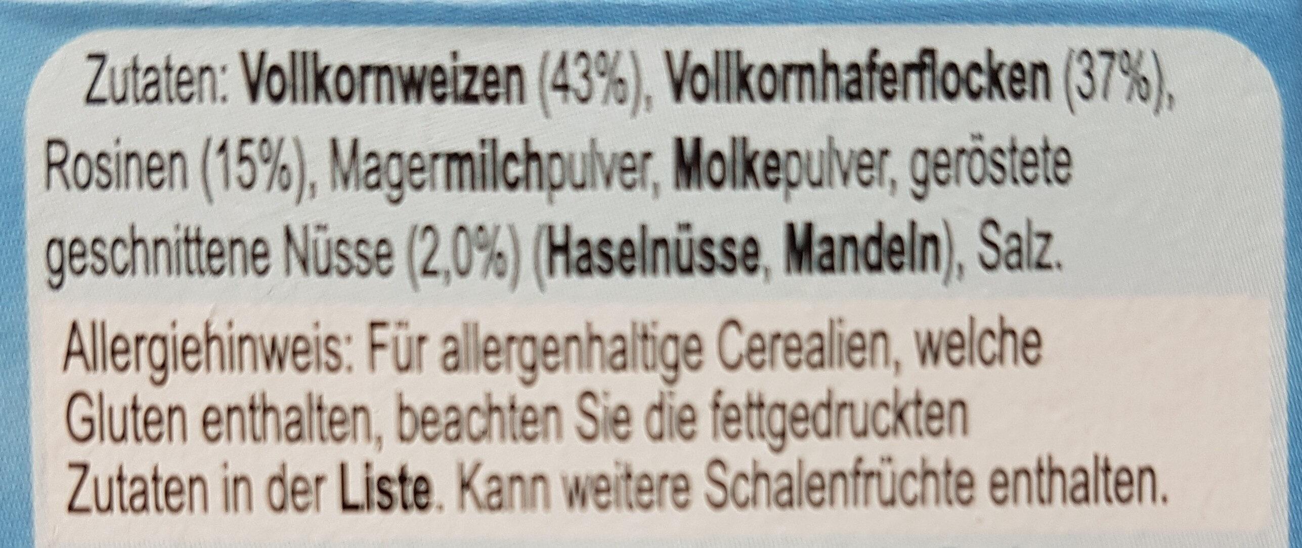 Alpen Swiss Style Muesli ohne Zuckerzusatz - Ingrediënten - de