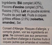 Alpen - Ingredients