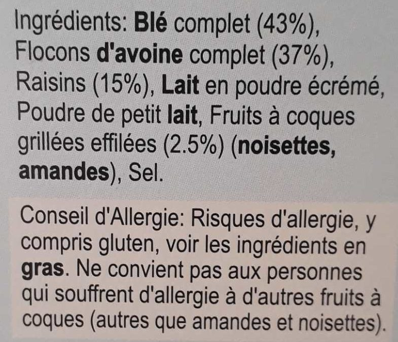 Alpen - No Added Sugar - Ingredientes - fr