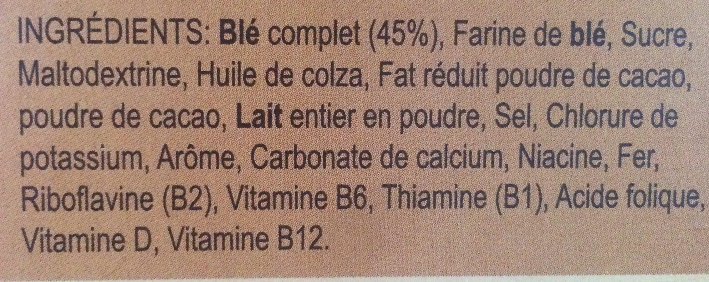 Céréales Weetos Choc 500g - Ingrédients - fr