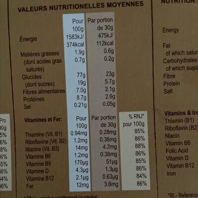Céréales Weetos Choc 500g - Nutrition facts - en