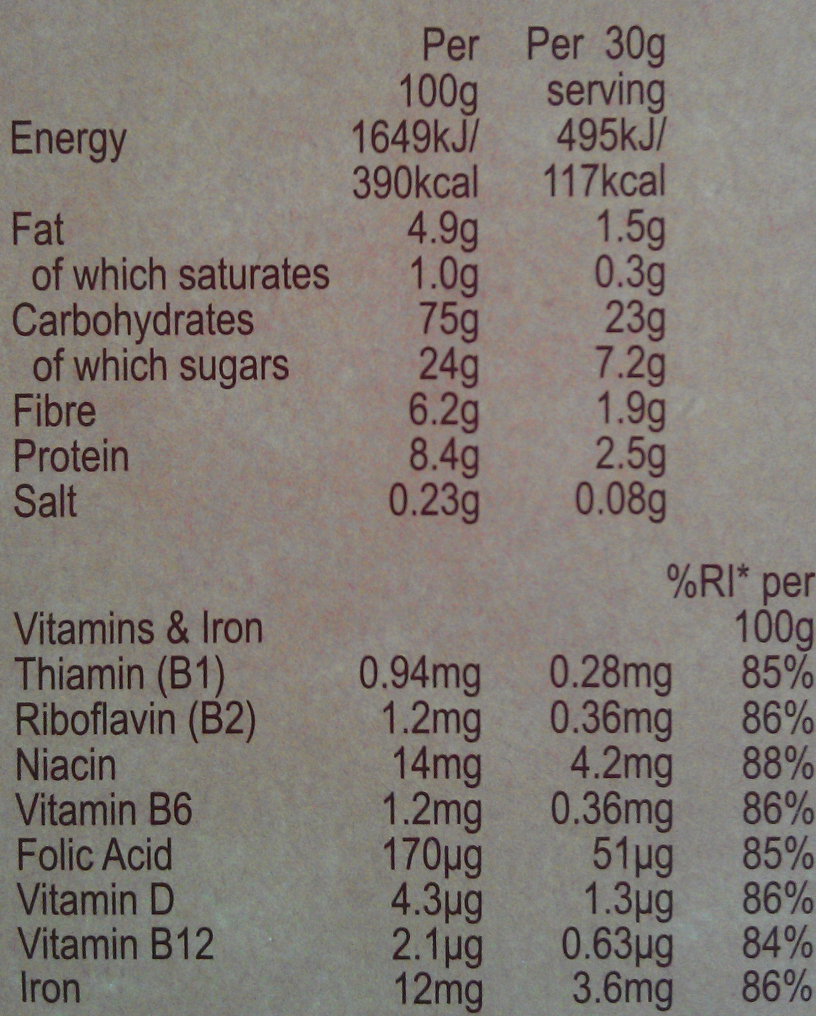 Weetos Chocolatey Hoops - Nutrition facts
