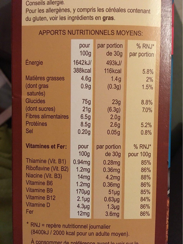 Céréales Weetos Choc 500g - Informations nutritionnelles - fr