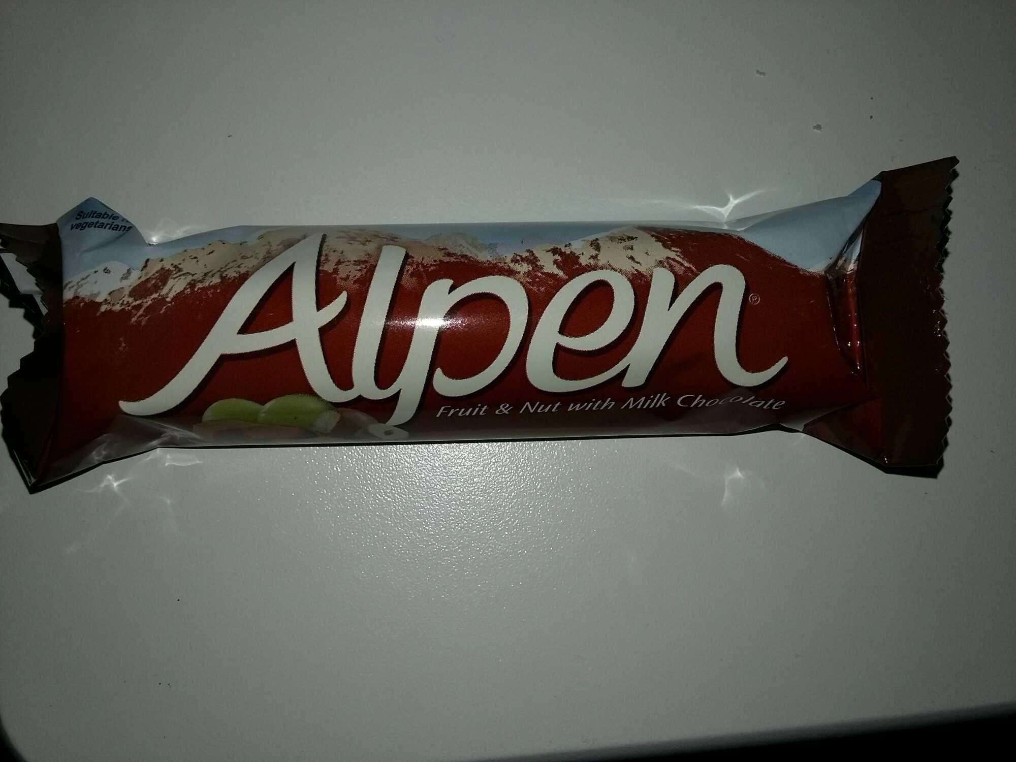 Alpen Fruit & Nut with Milk Chocolate - Product - en