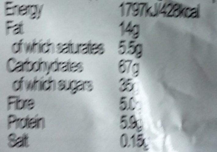 Alpen Fruit & Nut with Milk Chocolate - Nutrition facts - en