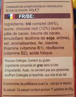 Minis - Céréales de blé complet choco - Ingredients - fr