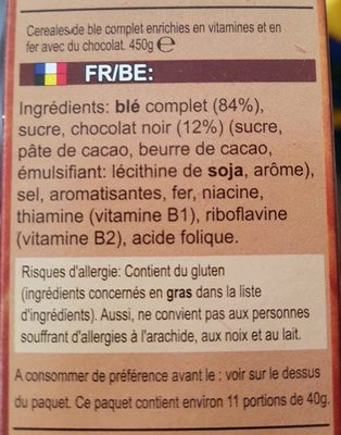 Minis choco - Ingrédients
