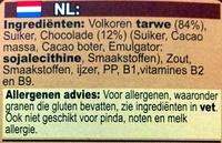 Minis choco - Ingrediënten - nl