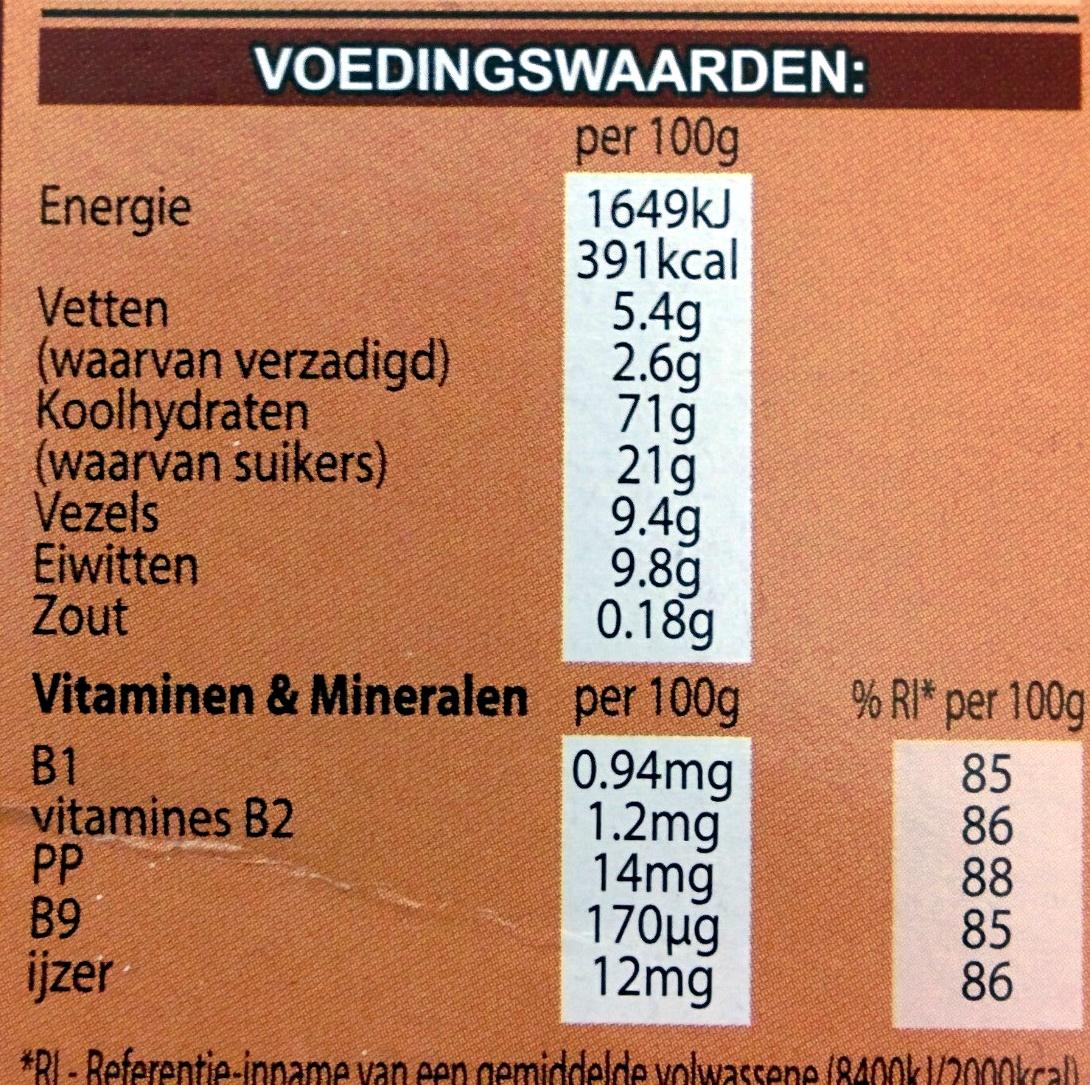 Minis choco - Voedingswaarden - nl