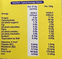 Weetabix - Nutrition facts - fr