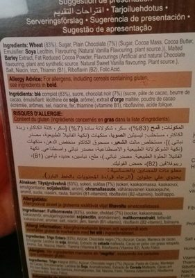 Weetabix chocolate - Ingredients