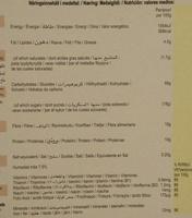 Weetabix chocolate - Informació nutricional